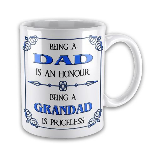 Being A... Is An Honour Being A... Is Priceless Novelty Gift Mug - Blue